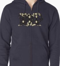 The Wise Monkeys Zipped Hoodie
