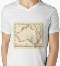 MAP of MYSTERIOUS AUSTRALIA  c. 1850 T-Shirt
