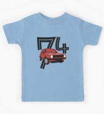 Retro 1970's gti hatchback car t-shirt Kids Tee