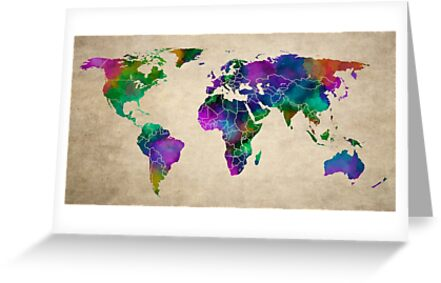 MAP of the WORLD ANTIQUE by Daniel-Hagerman