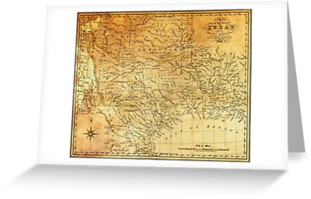 MAP of the REPUBLIC of TEXAS 1841 by Daniel-Hagerman