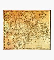MAP of the REPUBLIC of TEXAS 1841 Photographic Print