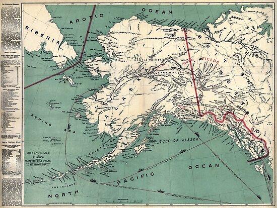 ALASKA GOLD RUSH SURVIVAL MAP/GUIDE  1897 by Daniel-Hagerman