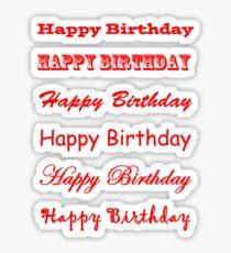 Happy Birthday text - Red Sticker