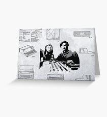 APPLE COMPUTER FIRST PATENT - JOBS & WOZNIAK Greeting Card