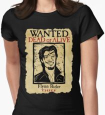 WANTED FLYNN RIDER: BROKEN NOSE Women's Fitted T-Shirt