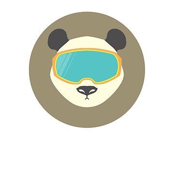 Panda bear with ski mask. by Anviczo