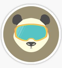 Panda bear with ski mask. Sticker