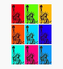 STATUE of LIBERTY POP ART Photographic Print