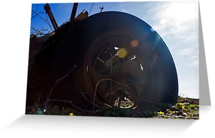 Flat Tire | Northville, New York by © Sophie W. Smith