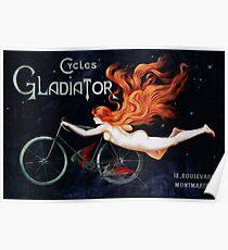 GLADIATOR CYCLES - PARIS 1895 Poster