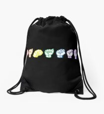 Namaste Sign Language Drawstring Bag