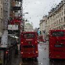 London - It's Raining Again But Riding the Double-Decker Buses is Fun! by Georgia Mizuleva