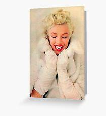 Marilyn Monroe White Xmas case Greeting Card