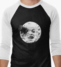 Camiseta ¾ estilo béisbol Un viaje a la luna (Le Voyage Dans La Lune) - solo cara
