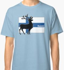 Suomi: Finnish Flag and Reindeer Classic T-Shirt