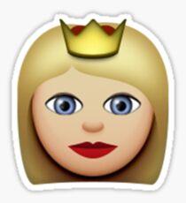 Emoji Princess (Blonde) Sticker