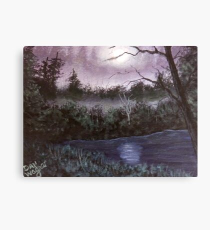 Peaceful  pond Canvas Print