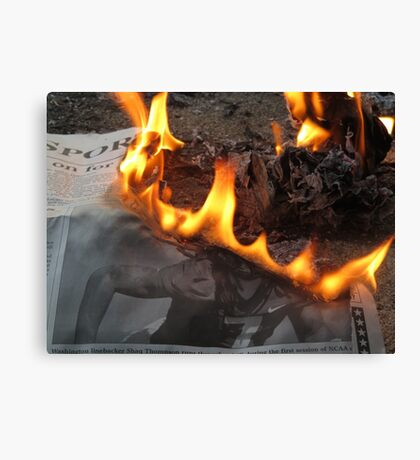 Setting Fire Canvas Print