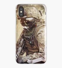 Apocalyptic Gaming Soldier iPhone Case