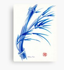 """Wind""  blue sumi-e ink wash painting Canvas Print"