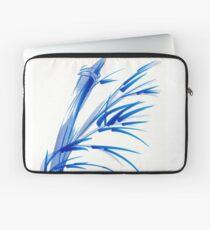 """Wind""  blue sumi-e ink wash painting Laptop Sleeve"