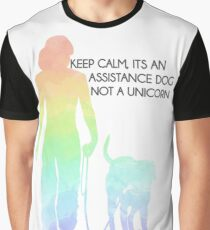 Keep Calm, It's An Assistance Dog Not A Unicorn Graphic T-Shirt