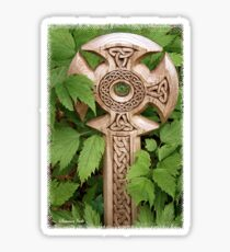 A Celtic Cross for St Patrick's Day Sticker