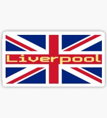 Liverpool Union Jack Flag Sticker T-Shirt Sticker