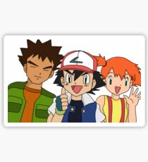 Pokemon Ash Brock and Misty Sticker