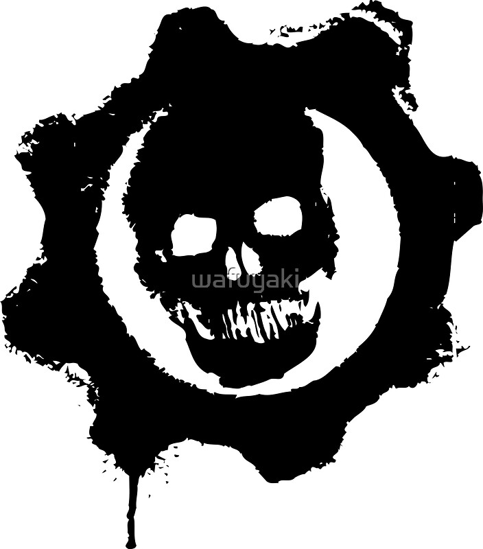 Gears of war symbol stencil the image for Gears of war logo tattoo