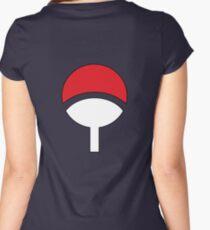 Uchiha Clan Symbol Hood Women's Fitted Scoop T-Shirt