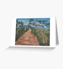 Gum trees along a dirt road. Greeting Card