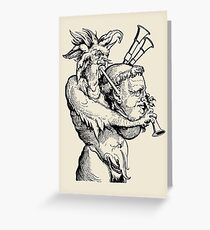 Devil with the Bagpipes Greeting Card