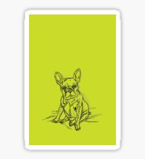 Green Frenchie Sticker