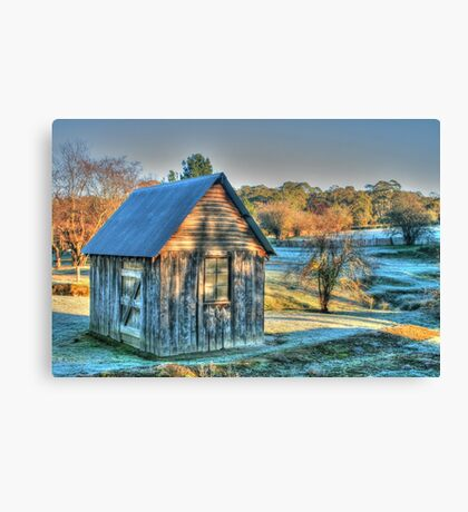 The Little House & the Frost .. HDR Canvas Print