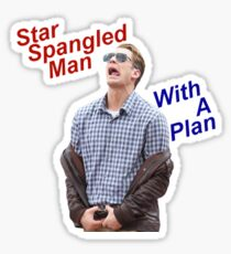 Star Spangled Man With a Plan Sticker