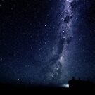 Milky Way above the silos by adbetron