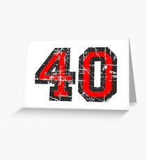 Number 40 Vintage 40th Birthday Anniversary Grußkarte