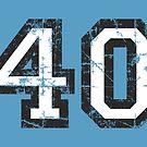 Number 40 Vintage 40th Birthday Anniversary by theshirtshops