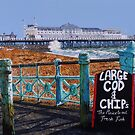 Large Cod and Chips by Paula Oakley
