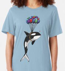 Big Orca, Bigger Dreams Slim Fit T-Shirt