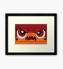Angry Unikitty Framed Print