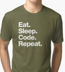 Eat. Sleep. Code. Repeat. Tri-blend T-Shirt