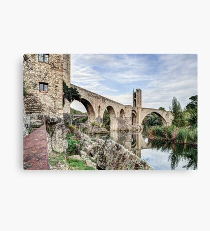 Besalú's Romanesque Bridge (Catalonia) Canvas Print