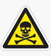 Skull Danger Zone logo original sticker Sticker