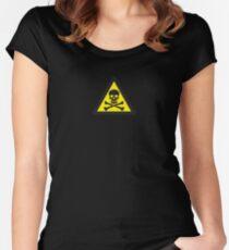 Skull Danger Zone logo original sticker Women's Fitted Scoop T-Shirt