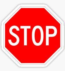 STOP original sign sticker Sticker