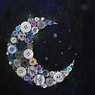 Crescent button moon  by lucy beckett