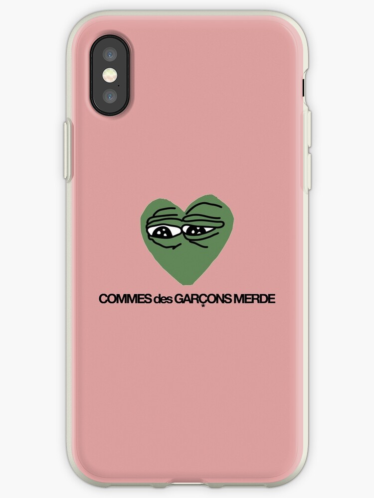 best service 82ce0 0acdd 'COMMES des GARCONS MERDE' iPhone Case by FuccboiWear
